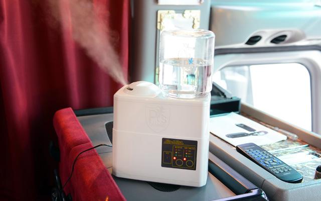 超音波霧化器での除菌を実施